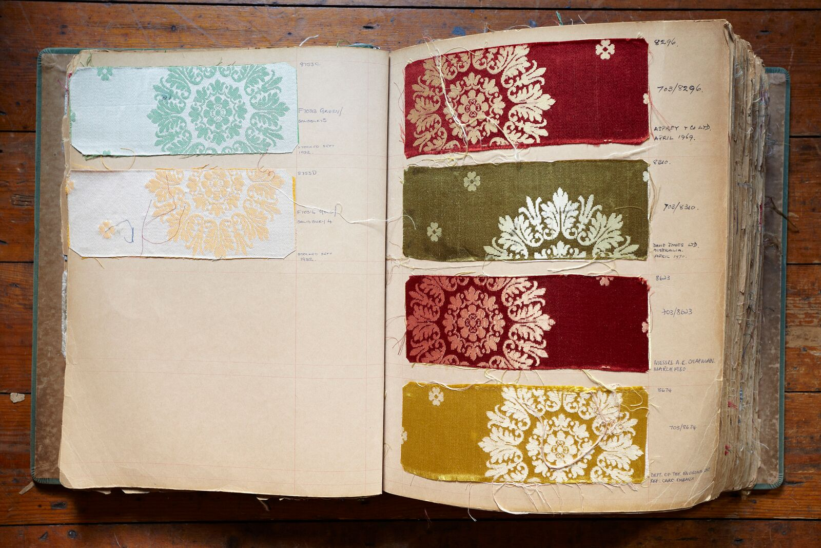Silk fabric swatch book