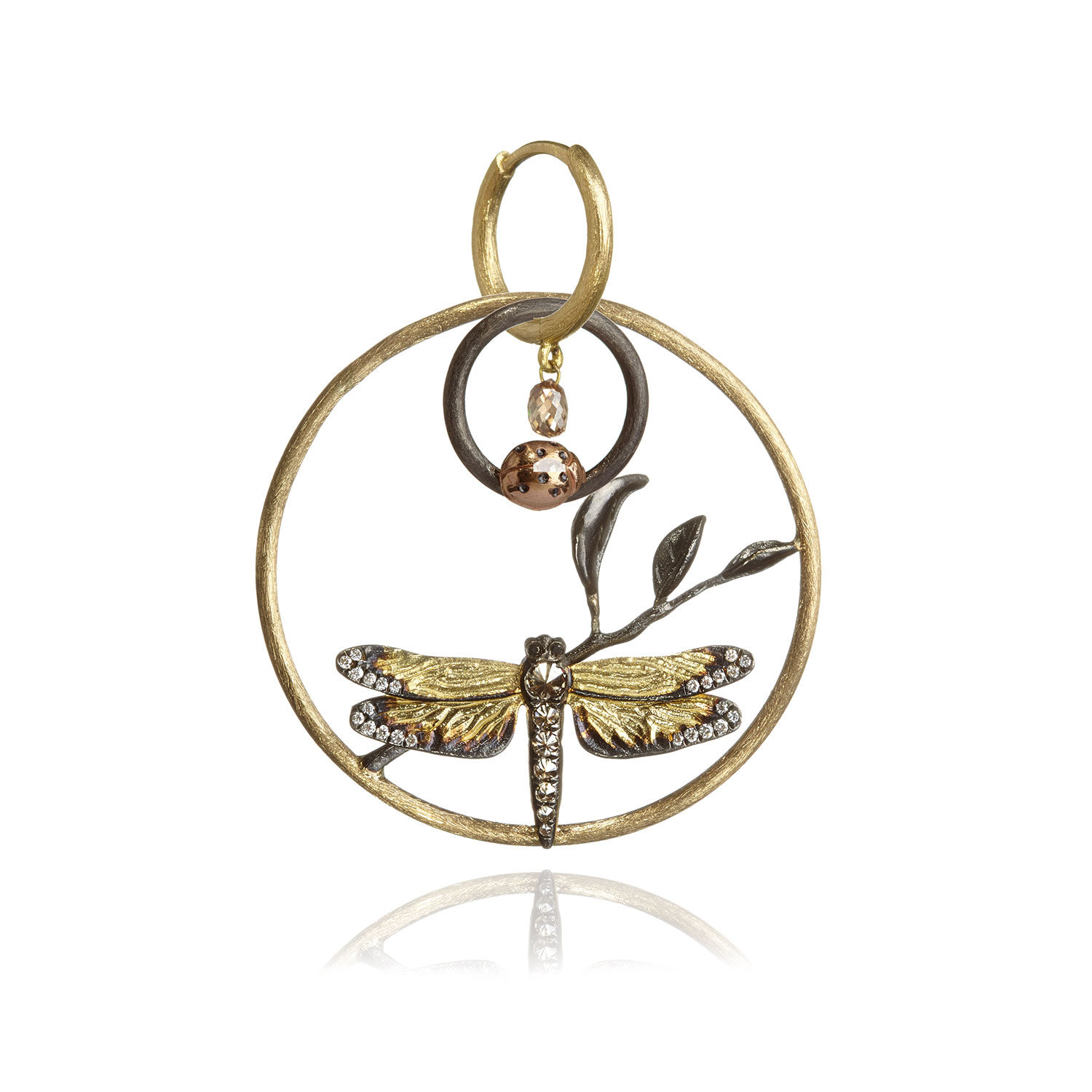 18ct-Gold-&-Diamond-Dragonfly-Pendant-(worn-as-earring)-£2900