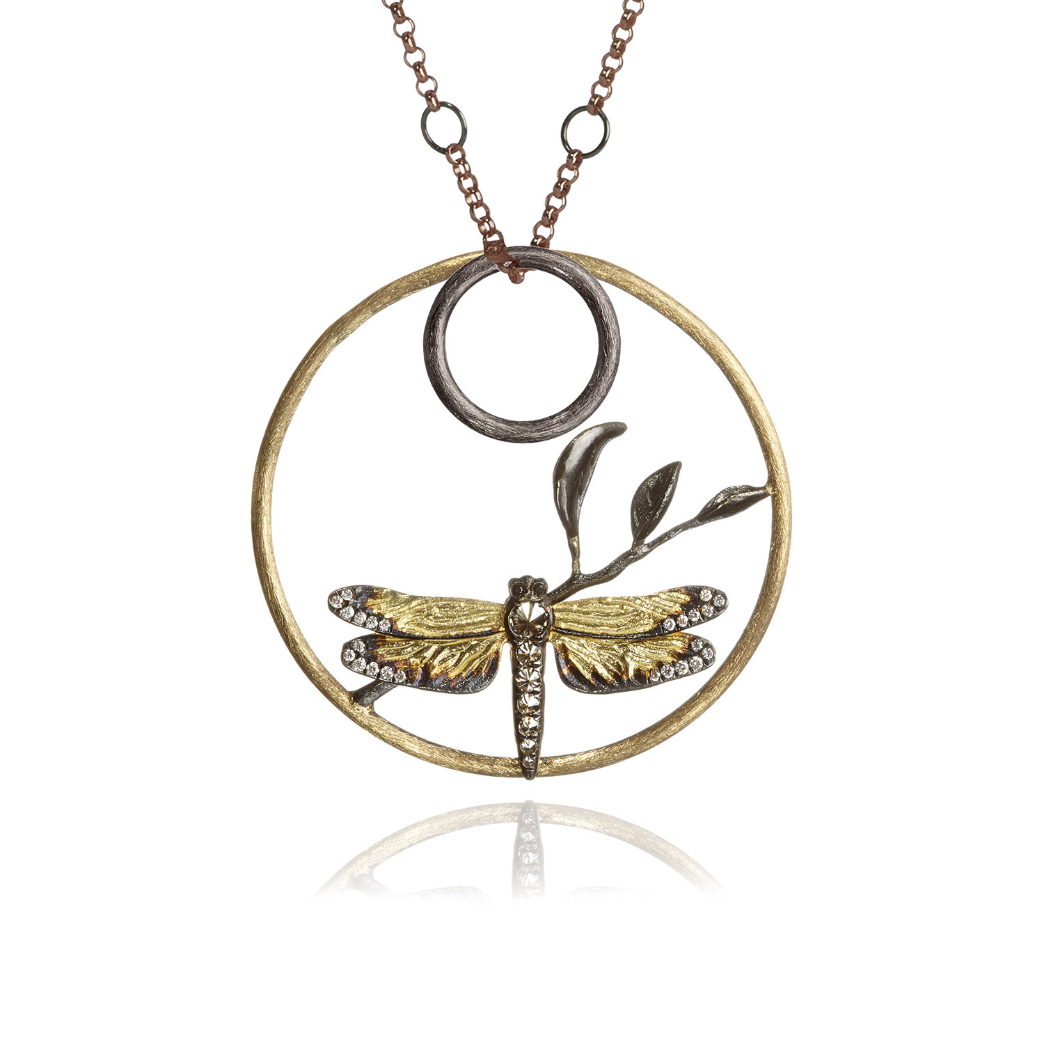18ct-Gold-&-Diamond-Hoopla-Dragonfly-Pendant-£2900-(worn-as-necklace)