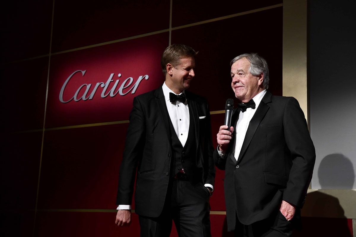 Ed Chamberlin, Sir Michael Stoute, Winner of the Cartier Award of Merit