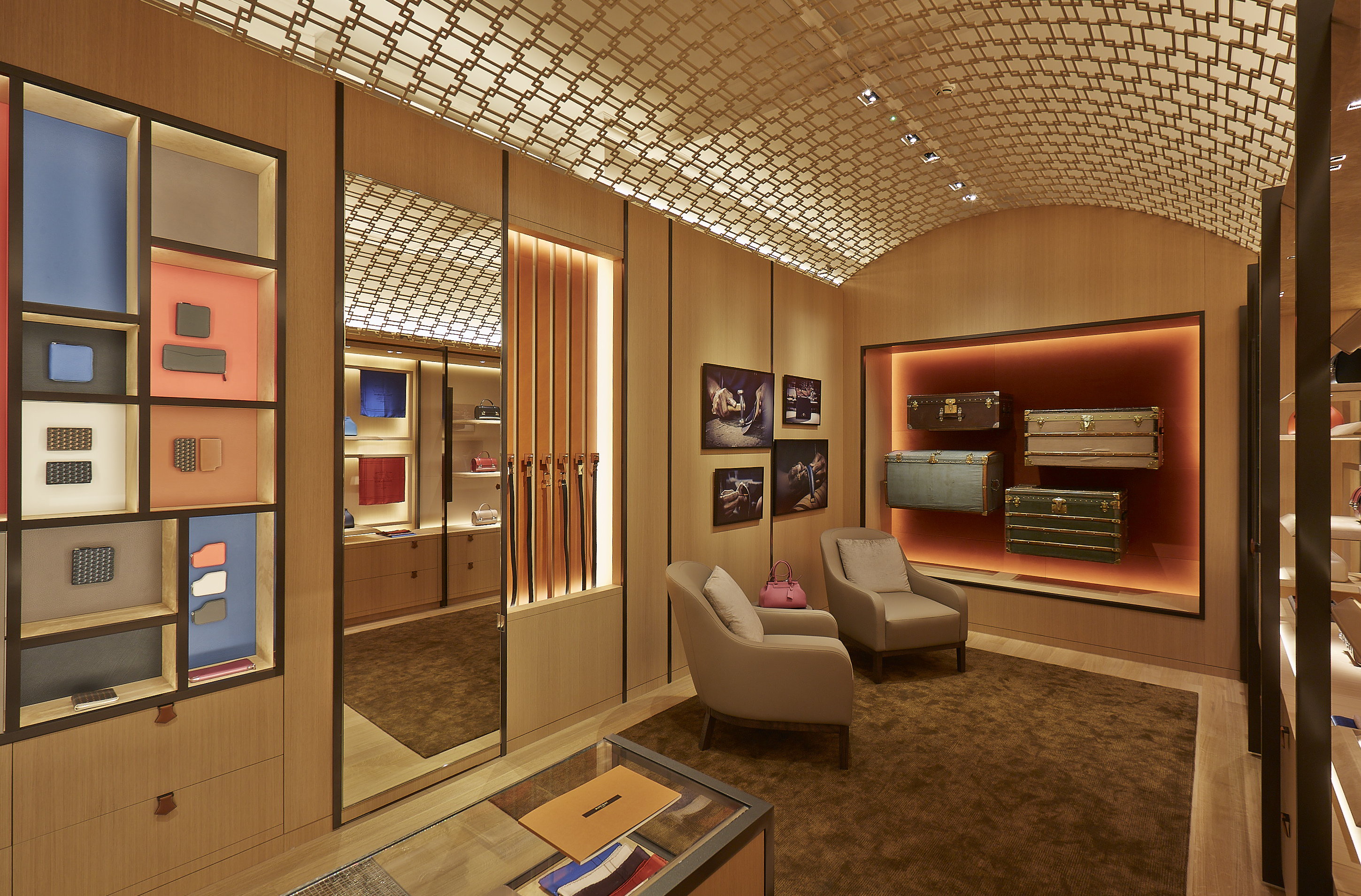 London boutique for luggage house Moynat