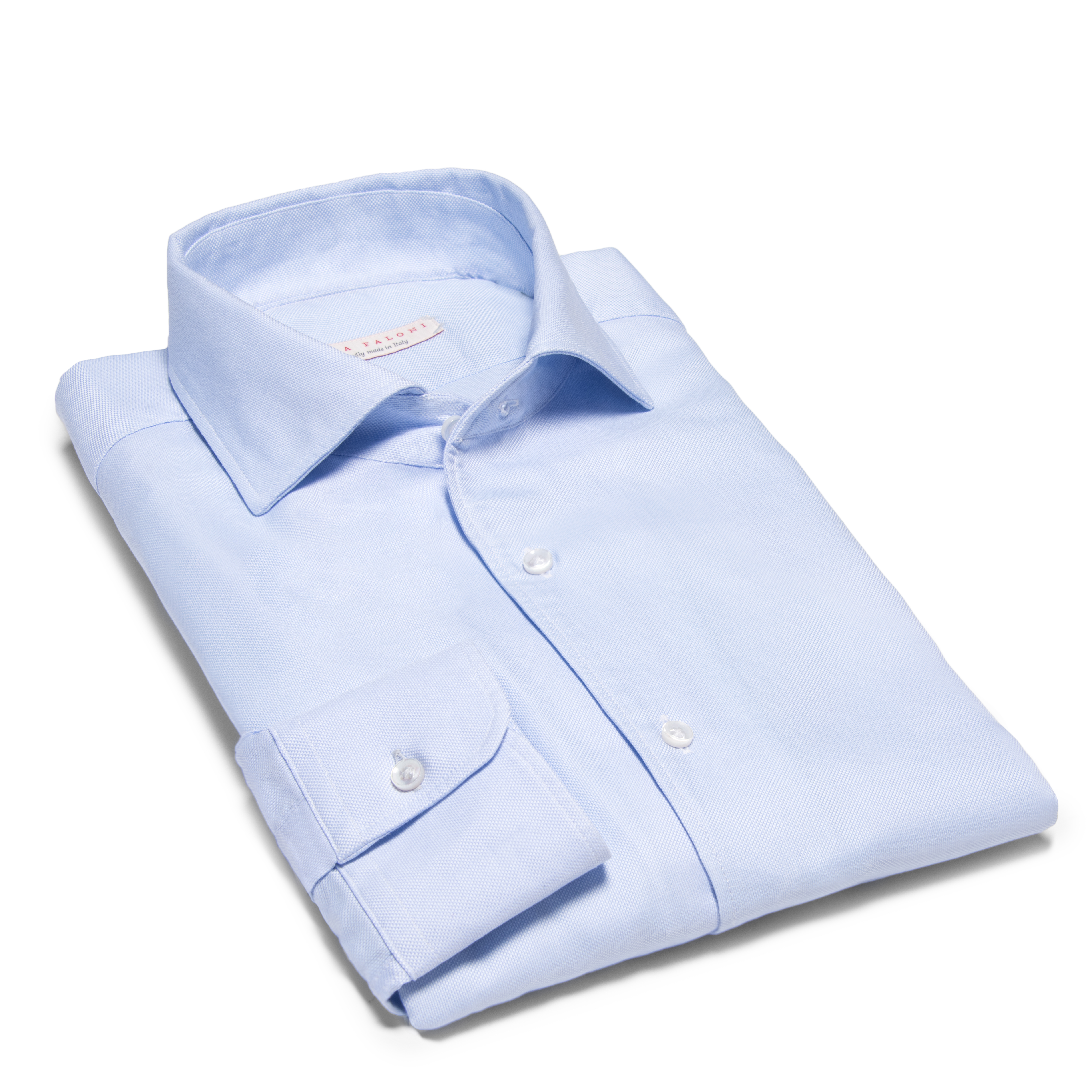 Luca Faloni's light blue brushed cotton shirt