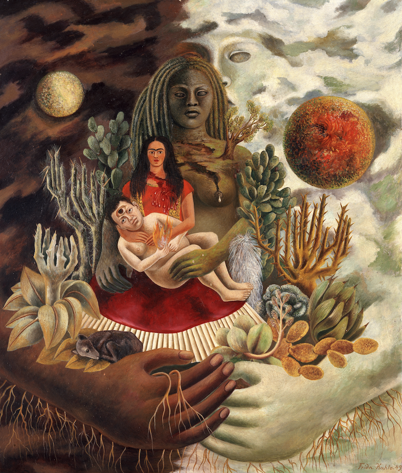 The Love Embrace of the Universe, the Earth (Mexico), Me, Diego, and Señor Xolotl, Frida Kahlo, 1949 (c) The Jacques and Natasha Gelman Collection of 20th Century Mexican Art and The Vergel Collection