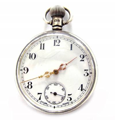 Silver-pocket-watch-top-winder-Swiss-made-17-jewels