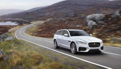 The Jaguar Sportbrake on the Isle of Harris