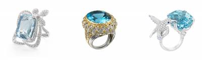 Our pick of the best diamond and blue gemstone jewellery