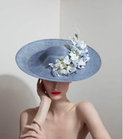 A haute couture hat by Philip Treacy