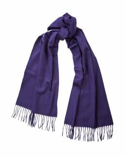 Begg & Co, Arran cashmere scarf in midnight colourway, £240