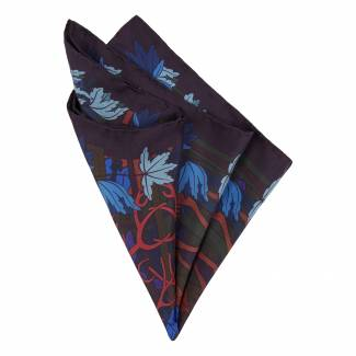 Furious Goose Stags pocket square, £65