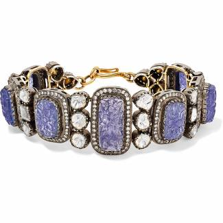 4ct gold and sterling silver bracelet, set with tanzanite and diamonds by Amrapali