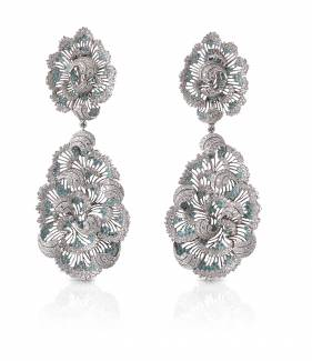 Storm on the Coast of Belle-Île earrings by Buccellati