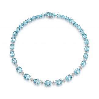 Blue topaz and diamond special editions necklace by Kiki McDonough
