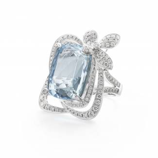 Malham Rock aquamarine ring by Boodles