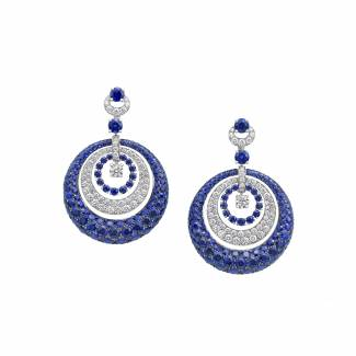 Bombé sapphire earrings by Graff