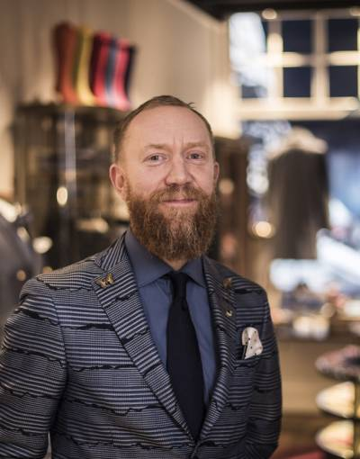 Head of design for Turnbull and Asser - Dean Gomilsek-Cole
